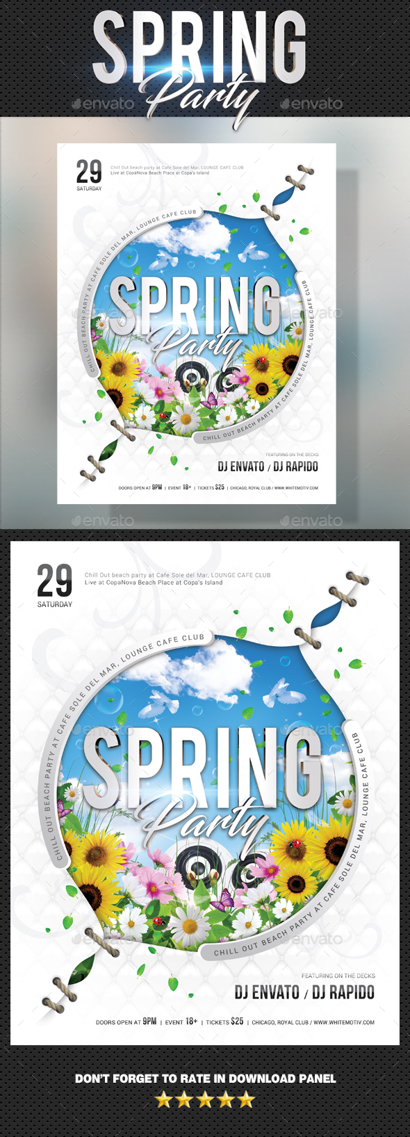 Graphicriver Spring Party Flyer 19659613