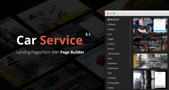 Car Service - Builder Exclusives Conversion Landing Pages