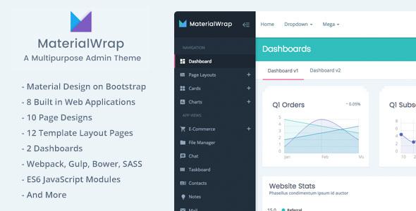 Download Material Wrap - Multipurpose Admin Theme