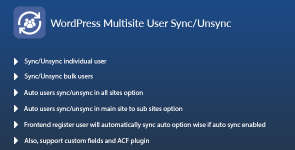 WordPress Multisite User Sync/Unsync (WordPress)
