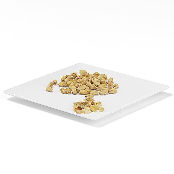 3DOcean Pistachios on White Plate 19660820