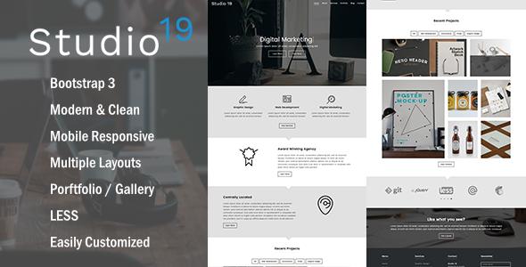 Studio 19 -  Creative Multi-Purpose HTML5 Template
