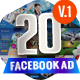 20 Facebook Ad Banners V1