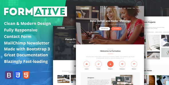 Download Formative - Creative One Page Parallax Template