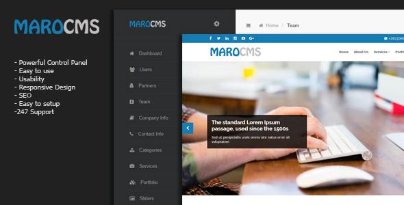 MaroCMS – Lightweight Organization CMS (PHP Scripts)