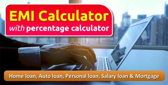 EMI Calculator with Percentage Calculator - CodeCanyon Item for Sale