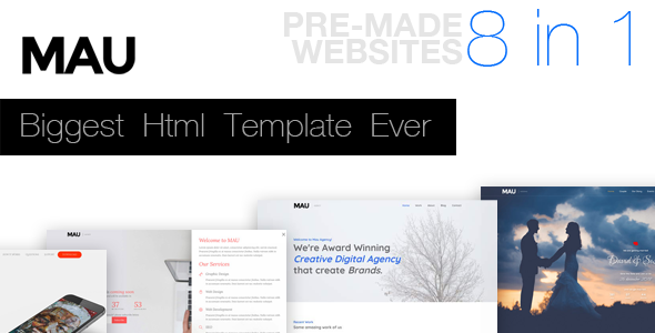 Download Mau - Biggest Html Template Ever
