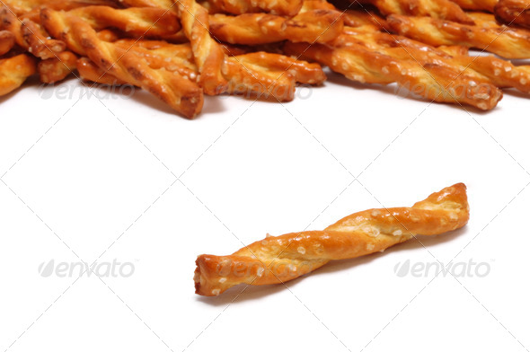 Single Pretzel - Stock Photo - Images