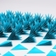 3d Geometrical Prickly Triangles Thorns on White Floor Animation