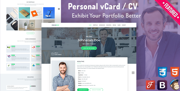 WP-Card | Private vCard &amp CV Resume Template (Private)