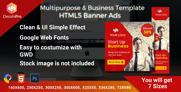 Download Multipurpose Business Ad Template - GWD - 7 Sizes
