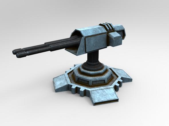 3DOcean Sci-Fi Turret 19664332
