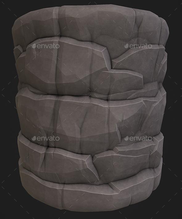 3DOcean Stylized Rock 1 19664487