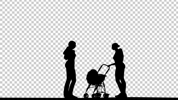 VideoHive Womens and Baby Silhouette 19664731
