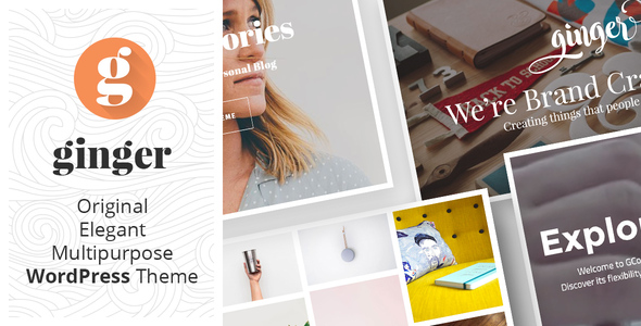 Download Ginger - Original Multipurpose WordPress Theme