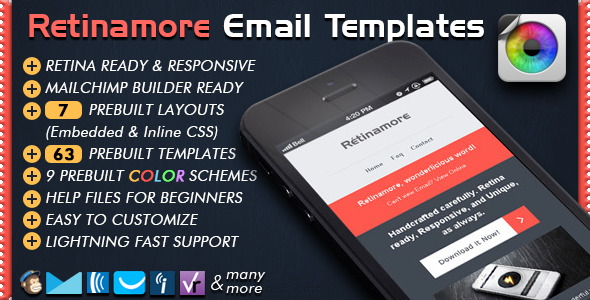 Retinamore - Responsive Email Newsletter Template