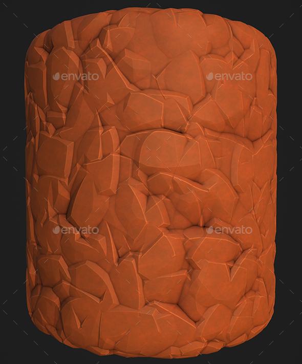 3DOcean Stylized Rock 2 19665305