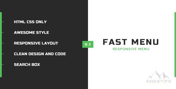 Enestife - Fast Menu Responsive - CodeCanyon Item for Sale