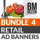 Retail Banner Ads - Bundle 4