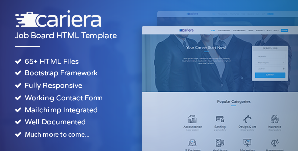 Download Cariera - Job Board HTML Template