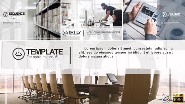 Minimal Corporate Slideshow - Apple Motion