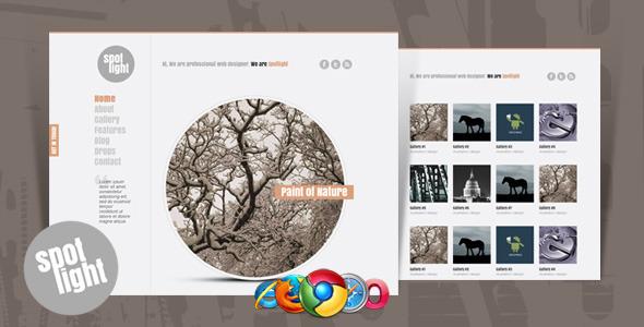 ThemeForest Spotlight Clean & Minimal Website Template 1924544