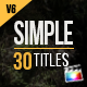Download 30 Simple Titles for Final Cut Pro X from VideHive