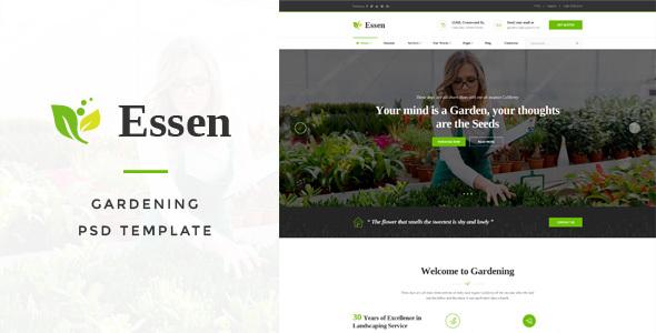 Essen - Gardening PSD Template