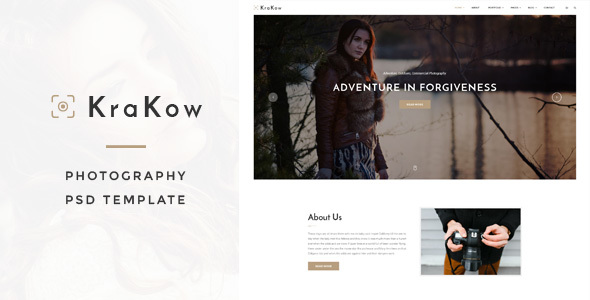 Krakow - Photography PSD Template