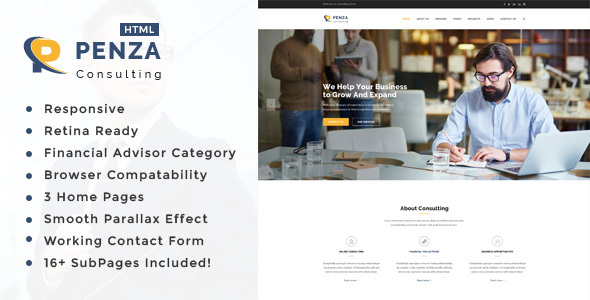 Penza : Business Consulting and Professional Services HTML Template