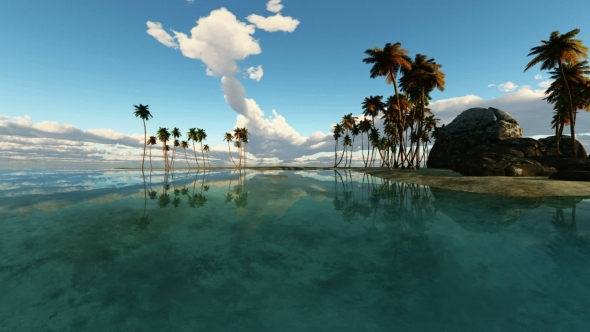 VideoHive Tropical Island with Palms 19668383