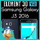 Samsung Galaxy J3 2016 for Element 3D