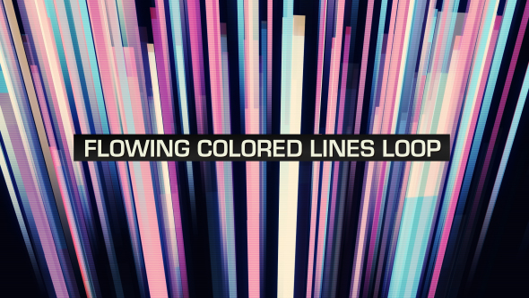 VideoHive Flowing Colored Lines Loop V4 19669446