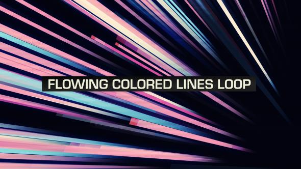 VideoHive Flowing Colored Lines Loop V5 19669454