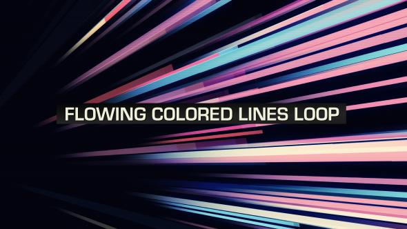 VideoHive Flowing Colored Lines Loop V7 19669461