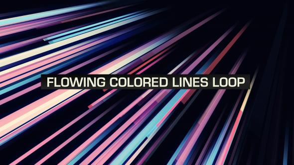 VideoHive Flowing Colored Lines Loop V6 19669469