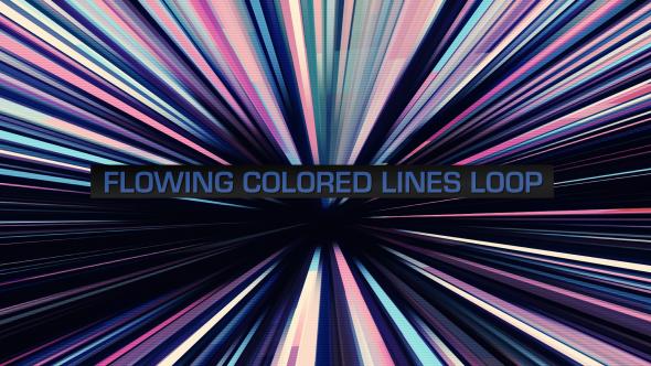 VideoHive Flowing Colored Lines Loop V9 19669484