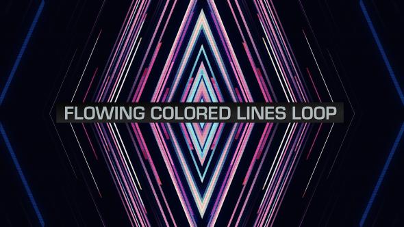 VideoHive Flowing Colored Lines Loop V10 19669490