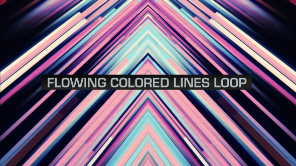 VideoHive Flowing Colored Lines Loop V11 19669501