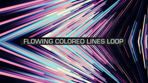 VideoHive Flowing Colored Lines Loop V12 19669506