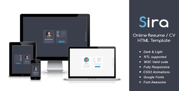 Sira - Online Resume / CV HTML Template