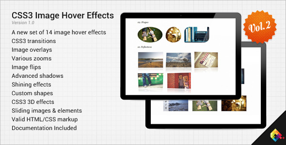 CodeCanyon CSS3 Image Hover Effects Vol.2 1319878