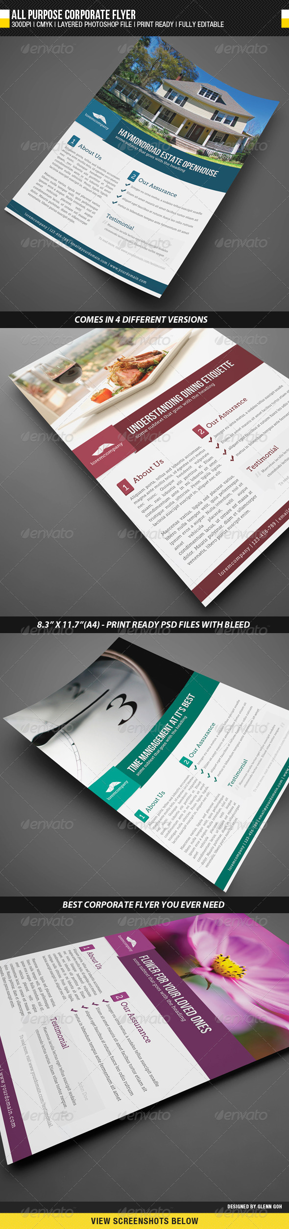 All Purpose Corporate Flyer - Corporate Flyers