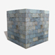 Blue Marble Bricks Seamless Texture