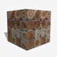 Decorative Wooden Tiles Seamless Texture