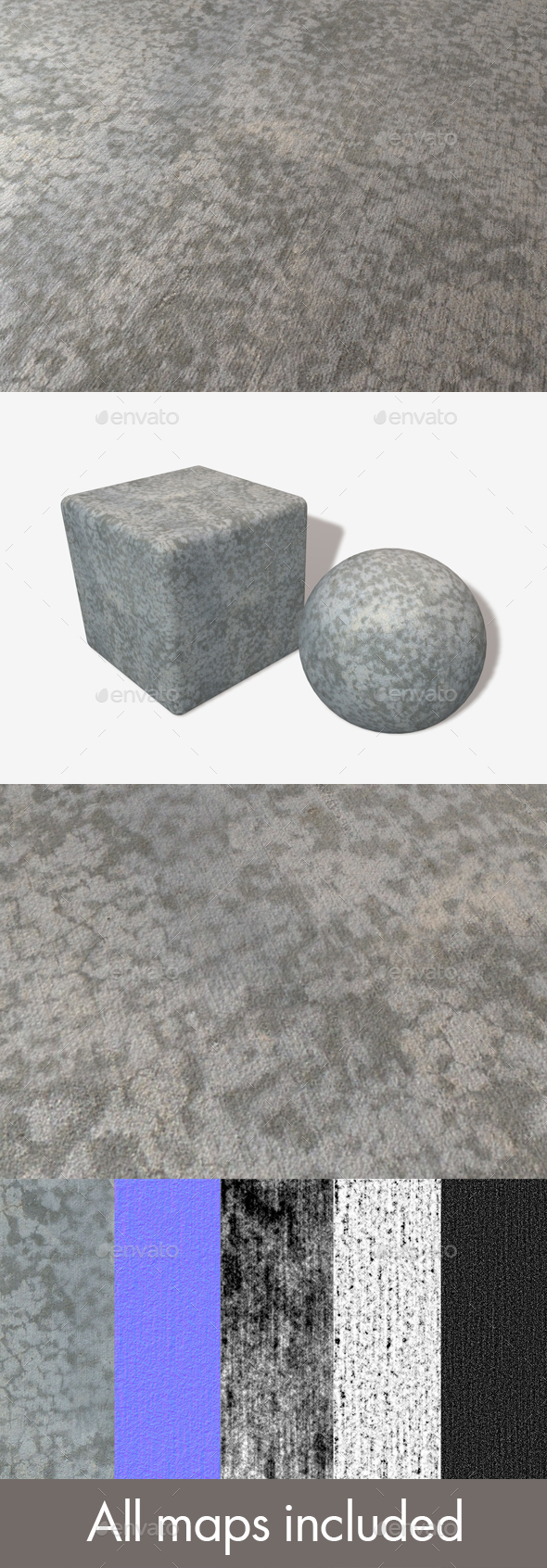 3DOcean Drying Concrete Seamless Texture 19671427