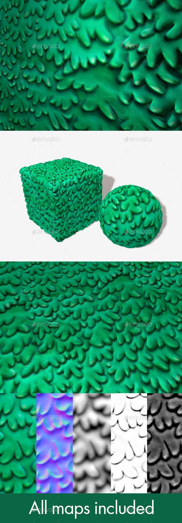 3DOcean Toon Shrubbery Seamless Texture 19671546