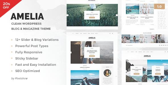 Amelia - Clean Blog & Magazine WordPress Theme
