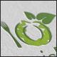 Organic Food Letter O Logo