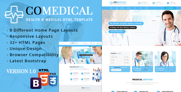 CoMedical - Health & Medical Responsive Template